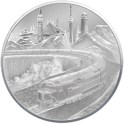 A picture of a 1 oz. TD Coast-to-Coast Silver Round